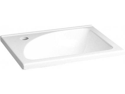 AQUALINE - Umyvadlo 40x32 cm, litý mramor, bílá LM408