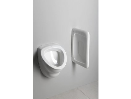 AQUALINE - DYNASTY urinál se zakrytým přívodem vody, 39x58 cm (10SZ92001-DS)