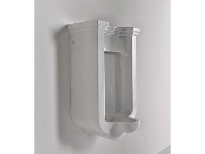 KERASAN - WALDORF urinál se zakrytým přívodem vody, 44x72x37 cm 413001