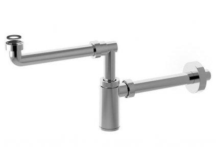 BONOMINI - KING umyvadlový sifon šetřící místo, 1'1/4 odpad 32 mm, ABS/chrom 0595SP25K7