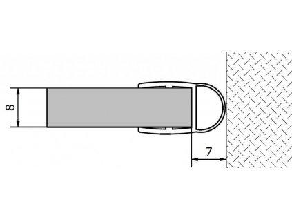 POLYSAN - VITRA LINE (FONTE) těsnění mezi sklo a stěnu, 2000mm, na sklo 8mm (307A-08)