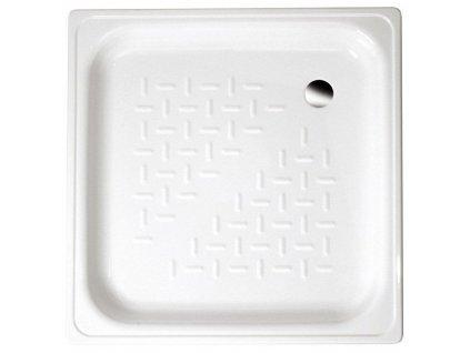 AQUALINE - Smaltovaná sprchová vanička, čtverec 80x80x16cm, bílá (PD80X80)