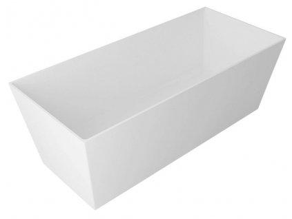 GELCO - KVADRIE vana 1590x650x550mm, litý mramor, objem 360l, bílá lesk (GVKV1590)