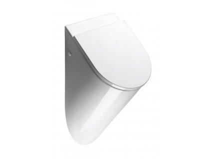 GSI - PURA urinál se zakrytým přívodem vody, 39x60x31 cm, otvory pro víko, bílá ExtraGlaze 769811