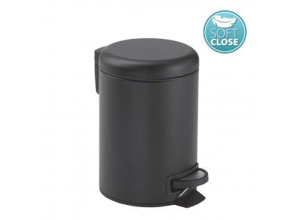 Gedy - POTTY odpadkový koš 5l, Soft Close, černá mat 330914