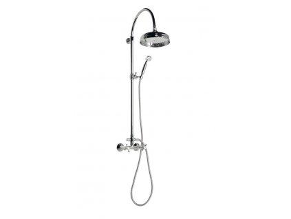 Reitano Rubinetteria - ANTEA sprchový sloup k napojení na baterii, hlavová a ruční sprcha, chrom SET031