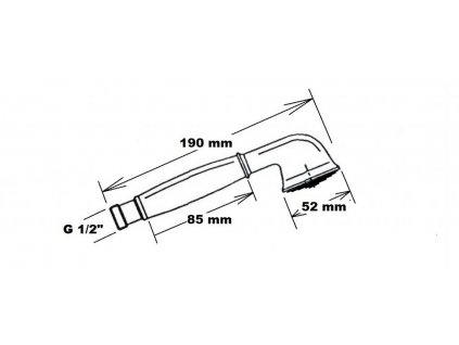 Reitano Rubinetteria - ANTEA ruční sprcha, 180mm, mosaz/chrom DOC21