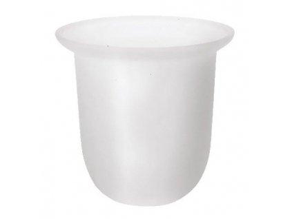SAPHO - Miska na WC štětku pro X-ROUND/Trend-i/X-STEEL, XS301 mléčné sklo (NDX310)