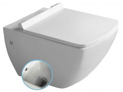 ISVEA - PURITY závěsná WC mísa s bidet. sprškou, 35x55,5cm, bílá 10PL02007-DL