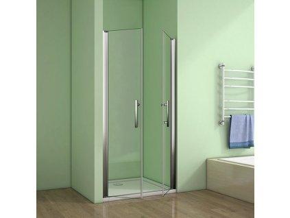 H K - Sprchové dveře MELODY D2 100 dvoukřídlé 96-100 x 195 cm, výplň sklo - čiré (SE- MELODYD2100-06)