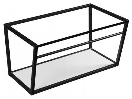 SAPHO - SKA konstrukce s policí 750x400x460mm, černá mat (SKA102)