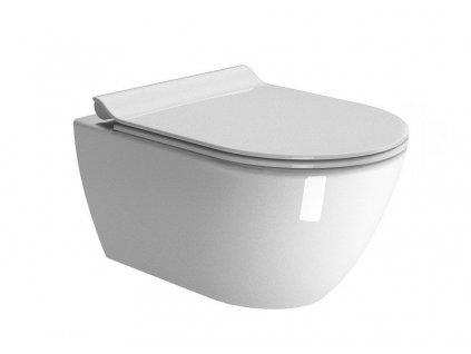 GSI - PURA závěsná WC mísa, Swirlflush, 50x36cm, bílá ExtraGlaze 881611