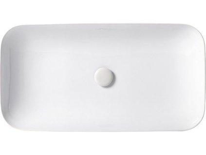 HOPA - Umyvadlo SOFT - na desku / zápustné - Rozměr A - 60 cm, Rozměr B - 40 cm KEAZESO60