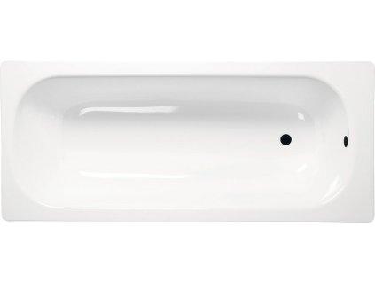 AQUALINE - Obdélníková smaltovaná vana 120x70x39cm, bílá V120X70