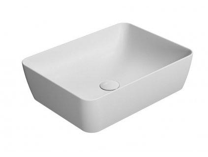 GSI - SAND umyvadlo na desku 50x38 cm, bílá mat (903709)