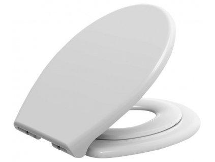 AQUALINE - WC sedátko s integrovaným dětským sedátkem, soft close. polypropylen, bílá (FS125)