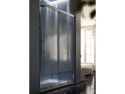 HOPA - Sprchové dveře MAYA - Barva rámu zástěny - Hliník leštěný, Rozměr A - 135 cm, Směr zavírání - Univerzální Levé / Pravé, Výplň - Čiré bezpečnostní sklo - 6 mm BLMA104CC