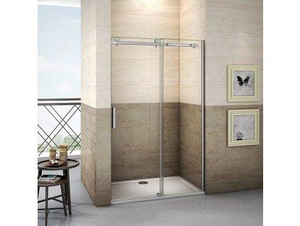 H K - Posuvné sprchové dveře DIAMOND 156-160x195cm L/P varianta SE- DIAMOND 160 SET