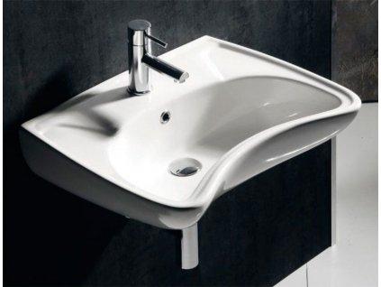 SAPHO - DISABLED keramické umyvadlo 59x45,5cm, pro tělesně handicapované 10TP60060