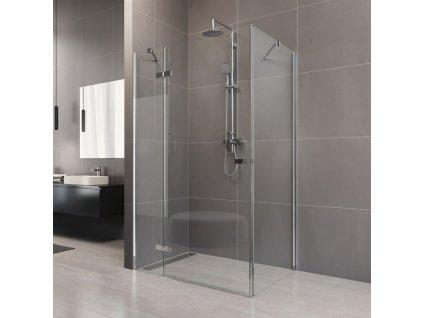 MEREO - Sprchový kout, Novea, obdélník, 80x100 cm, chrom ALU, sklo Čiré, dveře pravé a pevný díl (CK10116ZP)