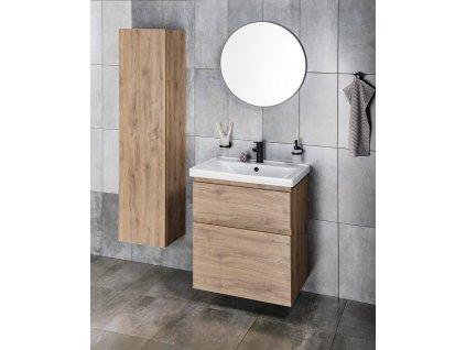 AQUALINE - Zrcadlo kulaté průměr 60cm, plast ABS, černá matná 6000