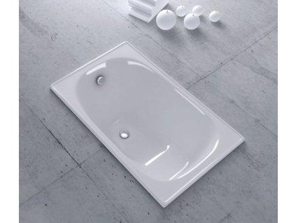 AQUALINE - Sedací smaltovaná vana 105x70cm, bílá (V105X70)