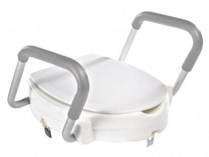 RIDDER - WC sedátko zvýšené 10cm, s madly, bílá A0072001