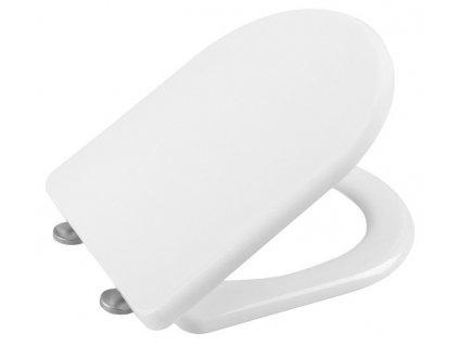 SAPHO - LENA WC sedátko, Soft Close, antibakteriální, bílá 1703-113