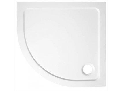 AQUALINE - TECMI sprchová vanička z litého mramoru, čtvrtkruh 90x90x3 cm, R55 (PQ559)