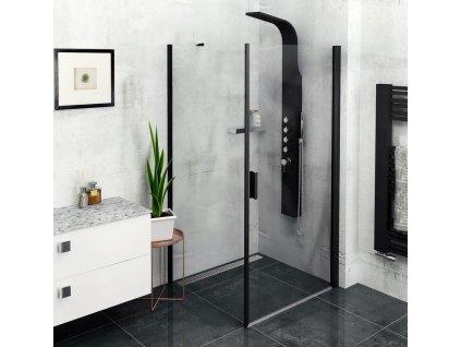 POLYSAN - ZOOM LINE BLACK boční stěna 1000mm, čiré sklo (ZL3210B)