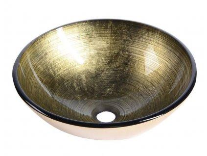 SAPHO - FIANNA skleněné umyvadlo průměr 42 cm, bronz (2501-21)