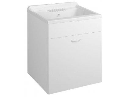 AQUALINE - Skříňka pod výlevku 59,5x70x49,4cm, bílá (57035)