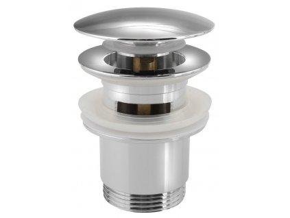 """SAPHO - Umyvadlová výpust 5/4"""", click-clack, velká zátka, tl.30-50mm, chrom CV1007"""