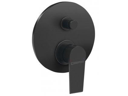 SAPHO - KAI podomítková sprchová baterie, 2 výstupy, černá mat (KA42/15)