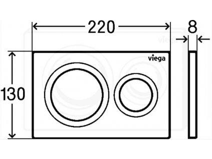 VIEGA Presvista modul DRY pro WC včetně tlačítka Style 20 bílé + WC CERSANIT CITY NEW CLEANON + WC SEDÁTKO SLIM (V771973 STYLE20BI CI2)