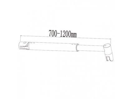 H K - Vzpěra WFB 700-1200mm, pro skla 6-10mm (SE- WFB 70-1200)