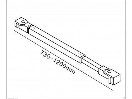 H K - Vzpěra F084 730-1200 mm, pro skla 6-10mm (SE-F084)