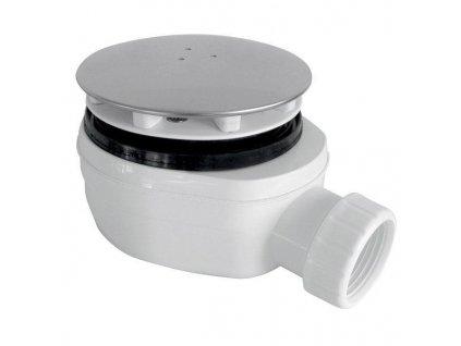 GELCO vaničkový sifon, průměr otvoru 90 mm, DN40, nízký, krytka leštěný nerez PB90EXN