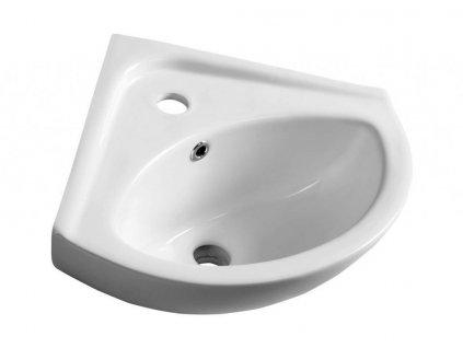 AQUALINE - LUIGI keramické rohové umývátko 34x34cm, bílá (FS161)