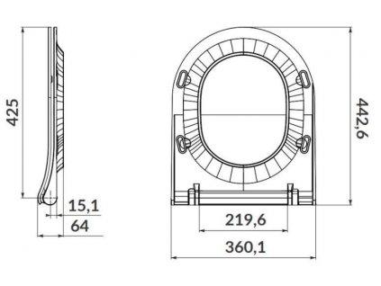 ALCAPLAST Jádromodul - předstěnový instalační systém s chromovým tlačítkem M1721 + WC OPOCZNO CLEANON URBAN HARMONY + SEDÁTKO (AM102/1120 M1721 HA1)
