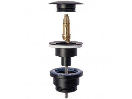 REA - Umyvadlová výpusť click-clack černá (REA-A5216)