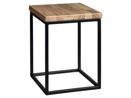 SAPHO - SKA stolička 300x410x300mm (SKA401), černá mat/dub (SKA190)