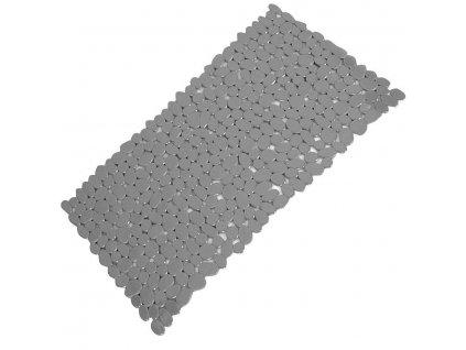 AQUALINE - RIVER podložka do vany, 35x70 cm, s protiskluzem, PVC, šedá TAVA40108