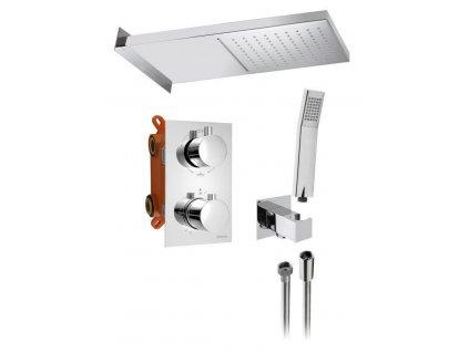 SAPHO - KIMURA podomítkový sprchový set s termostatickou baterií, box, 3 výstupy, chrom (KU383-01)