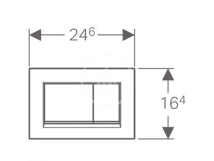 GEBERIT - Sigma30 Ovládací tlačítko Sigma30, chrom (115.883.KH.1)