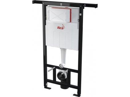 ALCAPLAST Jádromodul - předstěnový instalační systém s chromovým tlačítkem M1721 + WC CERSANIT CLEANON CREA čtverec + SEDÁTKO (AM102/1120 M1721 CR2)