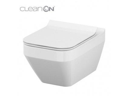 VIEGA Presvista modul PURE pro WC včetně tlačítka Style 20 bílé + WC CERSANIT CLEANON CREA čtverec + SEDÁTKO (V771928 STYLE20BI CR2)