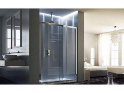 HOPA - Sprchové dveře MAYA - Barva rámu zástěny - Hliník leštěný, Rozměr A - 145 cm, Směr zavírání - Univerzální Levé / Pravé, Výplň - Acidato bezpečnostní sklo - 6 mm BLMA105CM