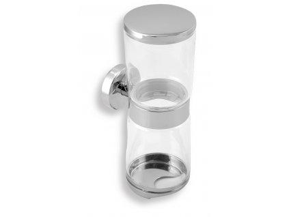 Novaservis - zásobník kosmetických tamponů a tyčinek Metalia 11 chrom (0182,0)