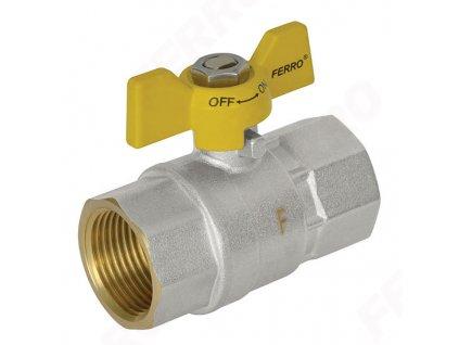 """Novaservis - plynový kulový kohout MM - motýlek 3/4"""" (PL115/20)"""